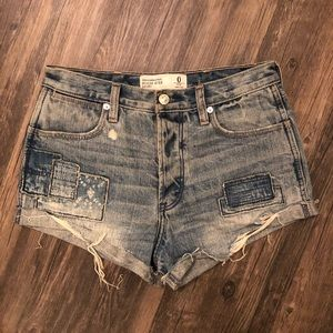 Abercrombie & Fitch High Waist Patchwork Shorts